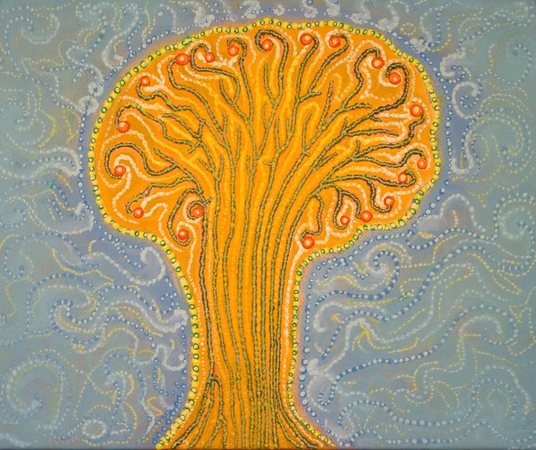 Lífsins tré. The tree of life. 40x50 cm.jpg