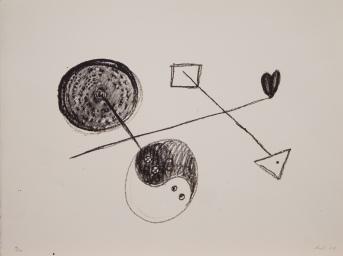 Nafnlaus.6. 1984 steinprent 25x32 cm
