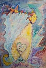 Vetrarmynd. 100x150 Olía á striga. 1984. Winter painting. 100x150 Oil on canvas. 1984.