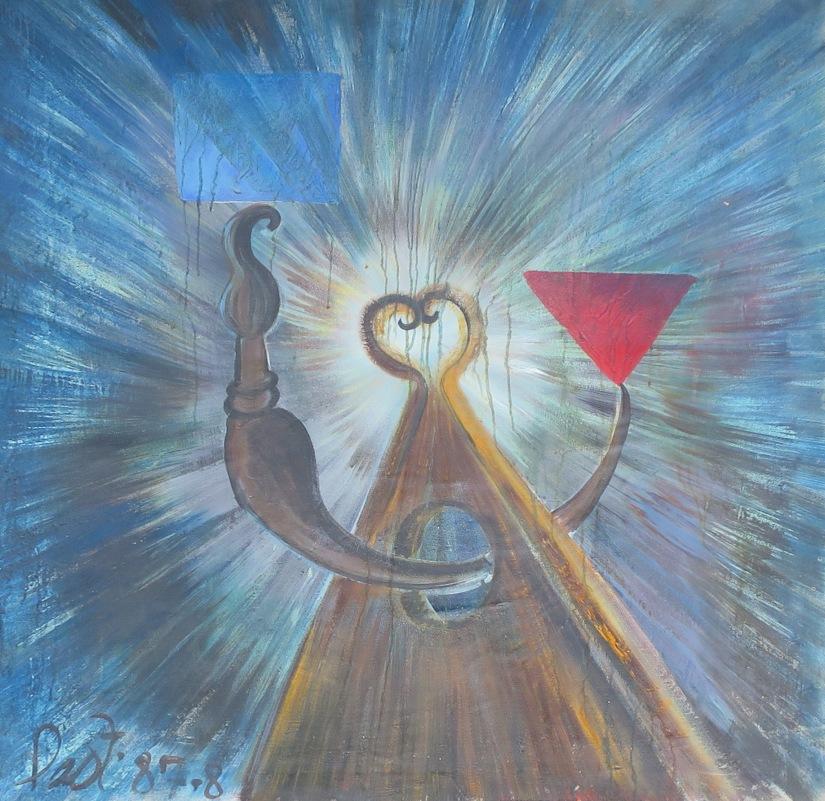 94 Konseptlist 106x116 cm Olía á striga. 1988. Conceptual art 106x116 cm Oil on canvas 1988