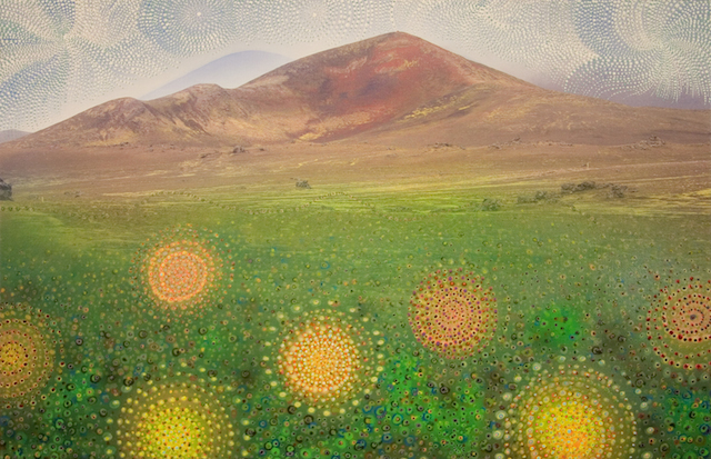 7. . Fjall að fjallabaki. 65x100.Mountain beyond mountains. 65x100
