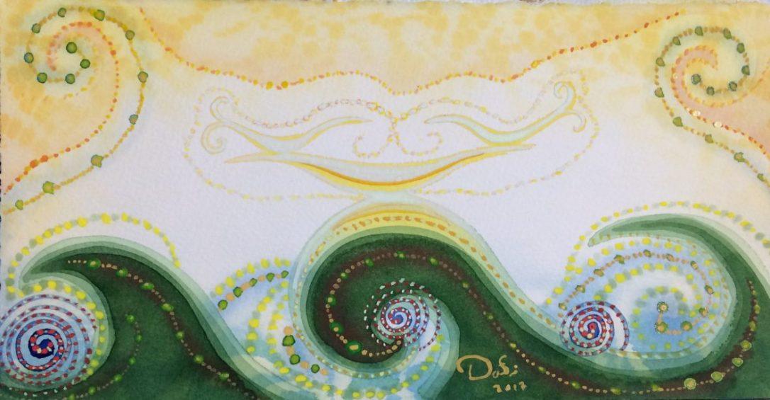 söngfuglar-vatnslitir-inging birds-watercolor