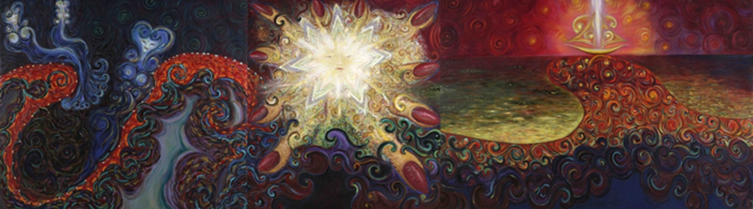 Hin rósfingraða morgungyðja. - The morning goddess with red fingernails. 2001-11 Olía á striga-Oil on Canvas 200 x 710 cm copy