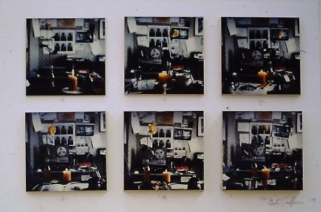 Polaroid ljósmyndir frá heimilis vinnustofuni. Polaroid photographs from the home studio.