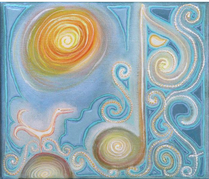 alveg-réttur-tónn-the-one-right tone-oil-on-canvas