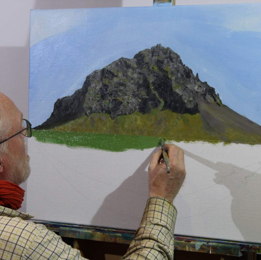 Painting one of the mountain I walked on this summer.